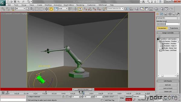 Animating constrained objects: 3ds Max 2011 Essential Training