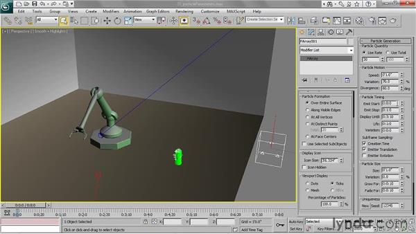 Adjusting particle parameters: 3ds Max 2011 Essential Training