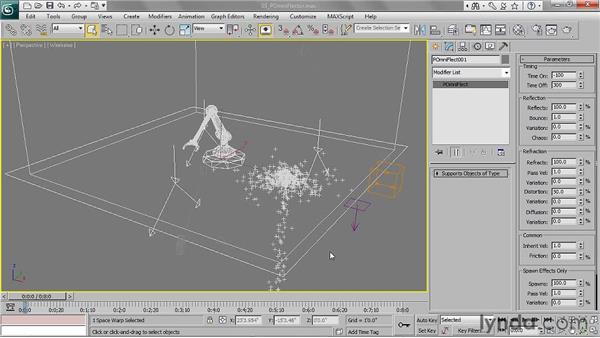 Colliding particles with a POmniFlector: 3ds Max 2011 Essential Training