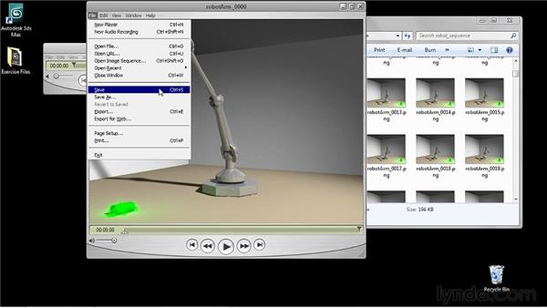 Compressing an image sequence to a movie: 3ds Max 2011 Essential Training