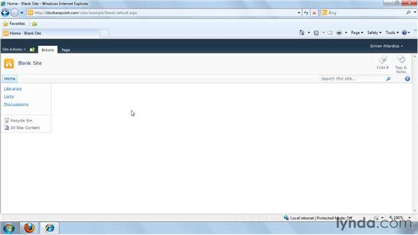 Creating a site: SharePoint 2010 Getting Started