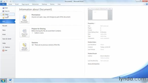 Understanding how Word works in SharePoint: SharePoint 2010 Getting Started