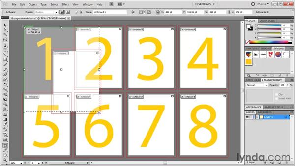 Changing the size and shape of an artboard: Illustrator CS5 One-on-One: Fundamentals