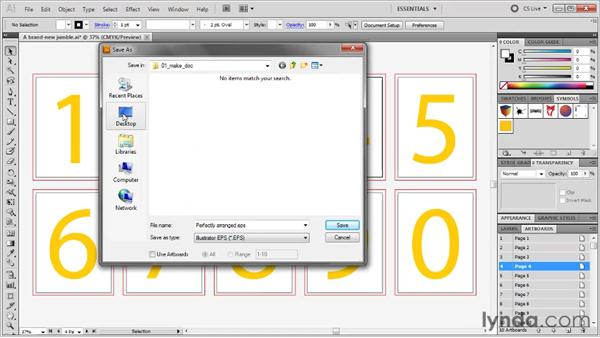 Saving a native AI document: Illustrator CS5 One-on-One: Fundamentals