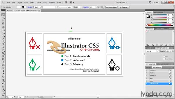 Zooming a document and its artboards: Illustrator CS5 One-on-One: Fundamentals