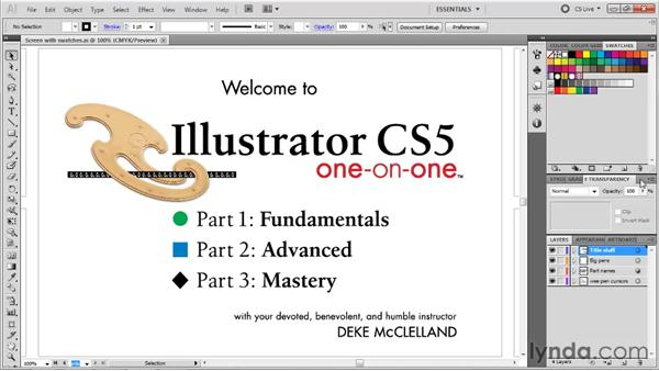 Displaying and organizing panels: Illustrator CS5 One-on-One: Fundamentals