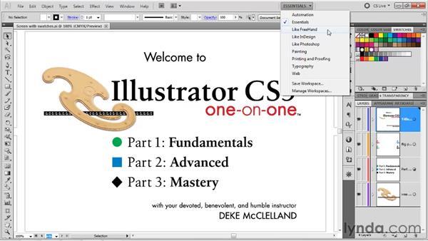 Saving a custom workspace: Illustrator CS5 One-on-One: Fundamentals