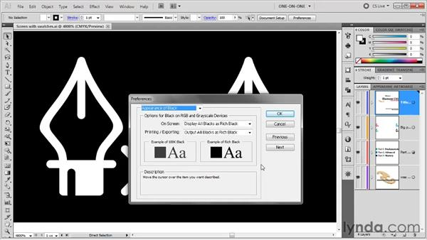 """User interface and """"rich black"""": Illustrator CS5 One-on-One: Fundamentals"""
