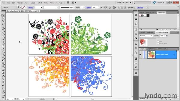 Aligning artwork to the artboards: Illustrator CS5 One-on-One: Fundamentals