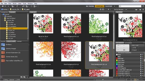 Thumbnails and star ratings: Illustrator CS5 One-on-One: Fundamentals