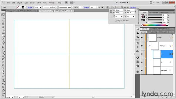 Duplicating and positioning guides: Illustrator CS5 One-on-One: Fundamentals