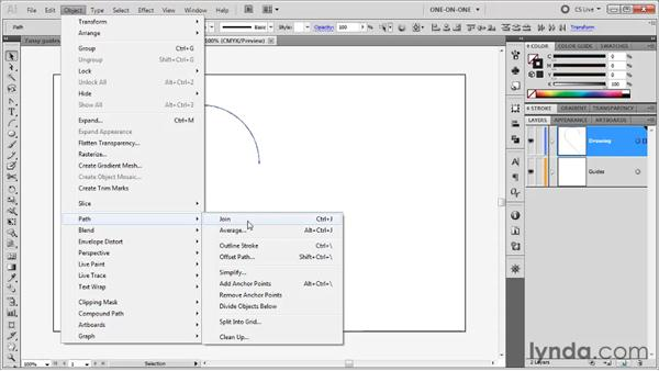 Joining multiple paths at once: Illustrator CS5 One-on-One: Fundamentals