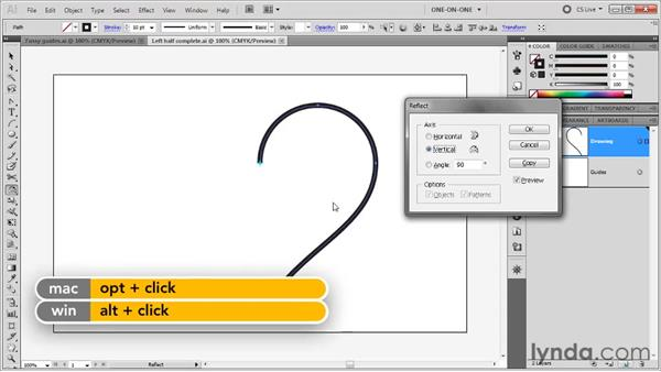 Reflecting across a vertical axis: Illustrator CS5 One-on-One: Fundamentals