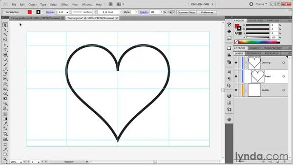 Pasting one drawing inside another: Illustrator CS5 One-on-One: Fundamentals