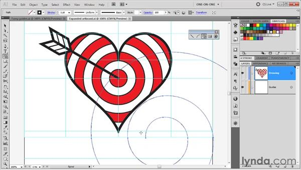 Drawing a looping spiral: Illustrator CS5 One-on-One: Fundamentals