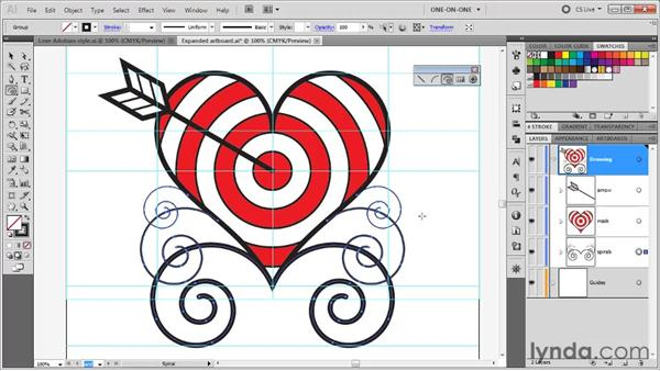 Establishing a set of tracing objects: Illustrator CS5 One-on-One: Fundamentals