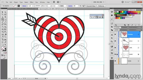 Tracing a template layer: Illustrator CS5 One-on-One: Fundamentals