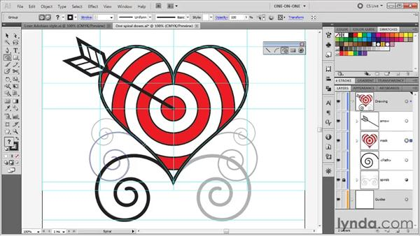 Converting a curved path into a guide: Illustrator CS5 One-on-One: Fundamentals
