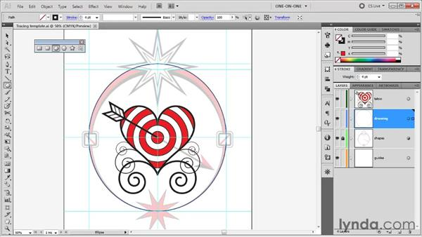 Using the Ellipse and Scale tools: Illustrator CS5 One-on-One: Fundamentals