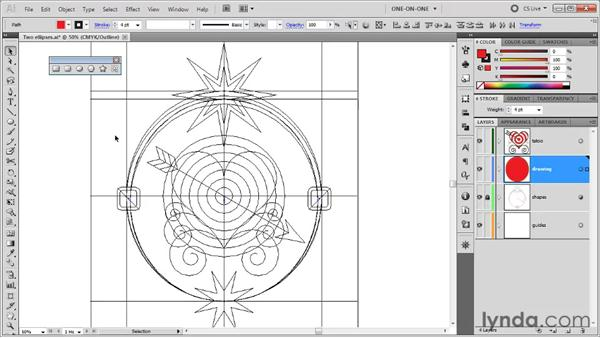 The Preview and Outline modes: Illustrator CS5 One-on-One: Fundamentals