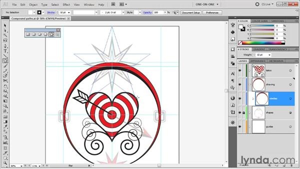 Drawing a multi-point star: Illustrator CS5 One-on-One: Fundamentals
