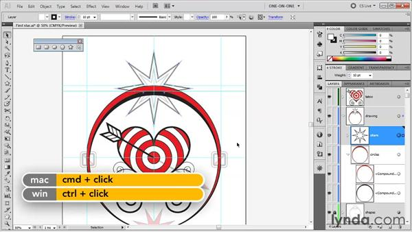 Creating and previewing a sublayer: Illustrator CS5 One-on-One: Fundamentals
