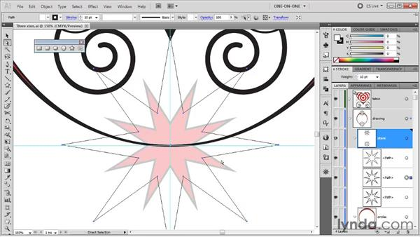Adding and using a center point: Illustrator CS5 One-on-One: Fundamentals