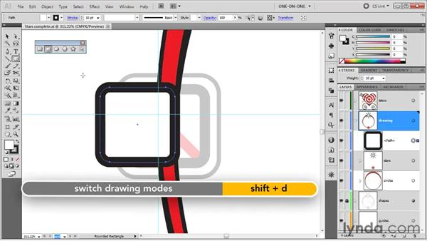 Drawing rounded rectangles: Illustrator CS5 One-on-One: Fundamentals