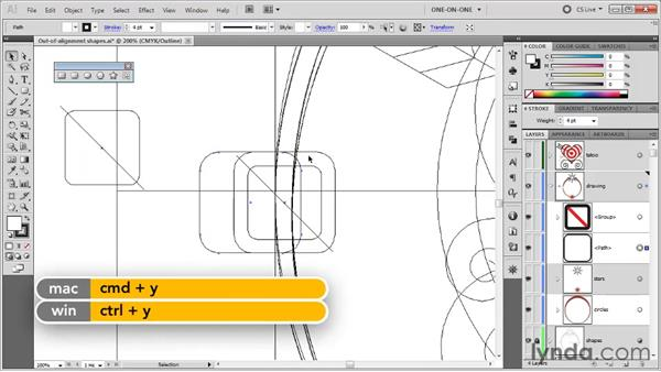 "Using Move to ""split the difference"": Illustrator CS5 One-on-One: Fundamentals"