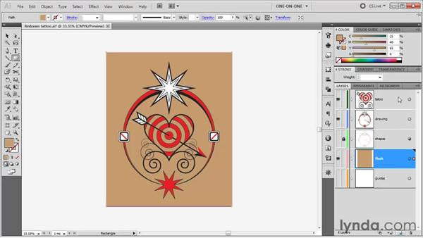 Previewing artwork on a non-white page: Illustrator CS5 One-on-One: Fundamentals
