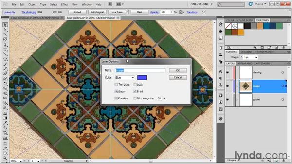Placing a photographic template: Illustrator CS5 One-on-One: Fundamentals