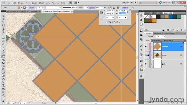 Scaling along the constraint axes: Illustrator CS5 One-on-One: Fundamentals