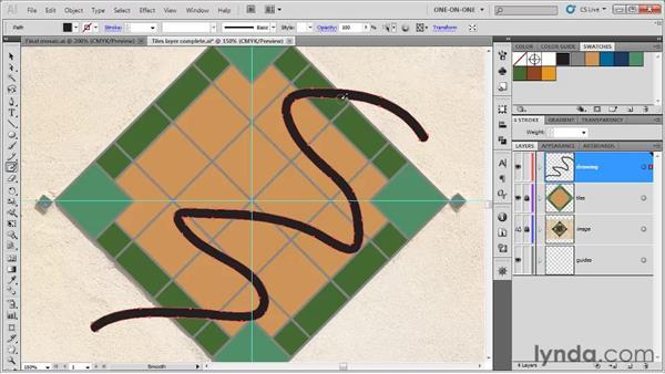 Using the Blob Brush tool: Illustrator CS5 One-on-One: Fundamentals