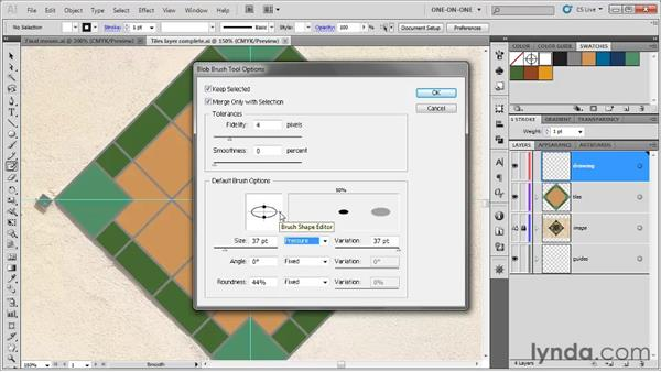 Pressure-sensitive input: Illustrator CS5 One-on-One: Fundamentals