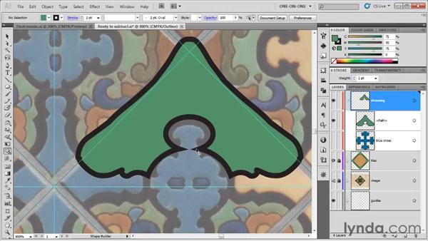 Subtracting with the Shape Builder: Illustrator CS5 One-on-One: Fundamentals