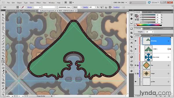 Coloring with the Shape Builder: Illustrator CS5 One-on-One: Fundamentals