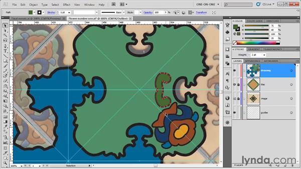 Finishing a symmetrical design: Illustrator CS5 One-on-One: Fundamentals