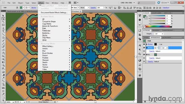 Simulating beveled edges: Illustrator CS5 One-on-One: Fundamentals