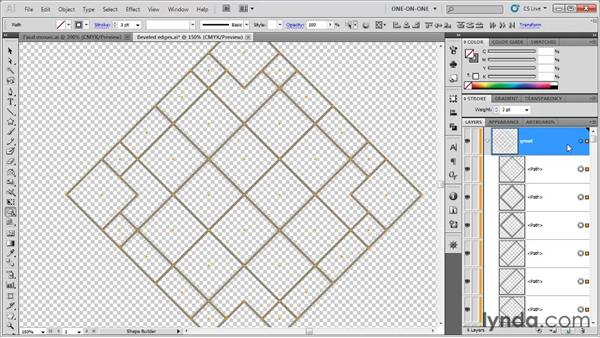 Removing overlapping segments: Illustrator CS5 One-on-One: Fundamentals