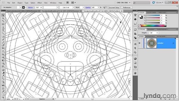 Making a new window into a document: Illustrator CS5 One-on-One: Fundamentals