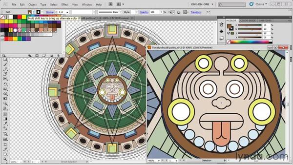 Assigning colors to fill and stroke: Illustrator CS5 One-on-One: Fundamentals