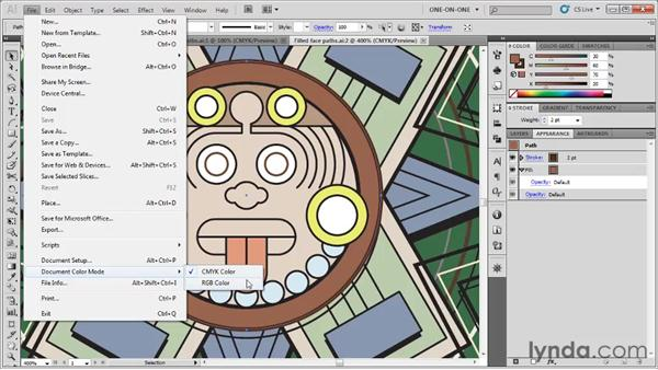 The Document Color mode: Illustrator CS5 One-on-One: Fundamentals