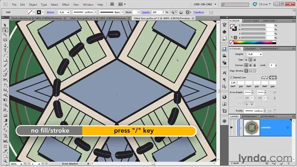 Filling open paths, None, and Swap: Illustrator CS5 One-on-One: Fundamentals