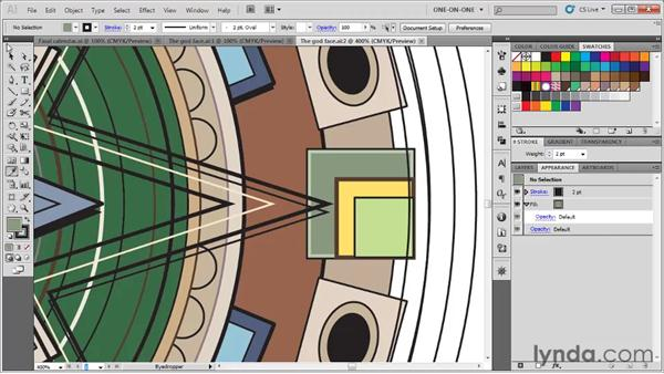 Lifting a color and creating a swatch: Illustrator CS5 One-on-One: Fundamentals