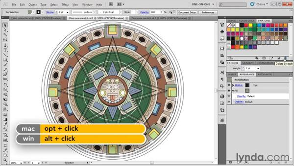 Managing color swatches: Illustrator CS5 One-on-One: Fundamentals