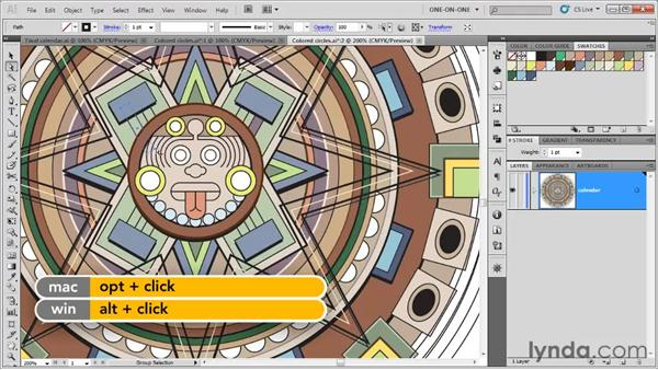 Filling paths inside groups: Illustrator CS5 One-on-One: Fundamentals