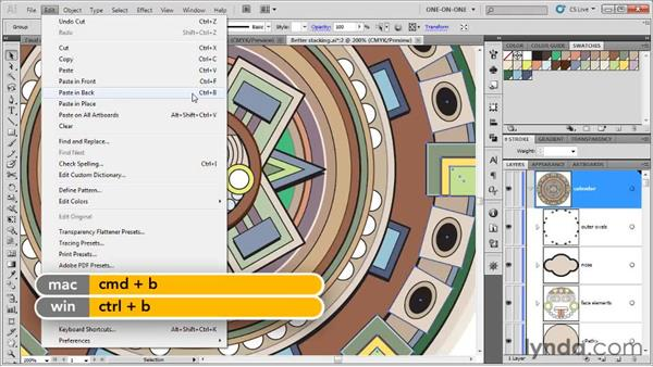 Paste in Front and Paste in Back: Illustrator CS5 One-on-One: Fundamentals