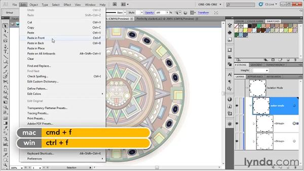 Working in the Group Isolation mode: Illustrator CS5 One-on-One: Fundamentals