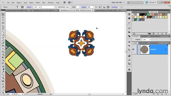 Creating a tile pattern: Illustrator CS5 One-on-One: Fundamentals