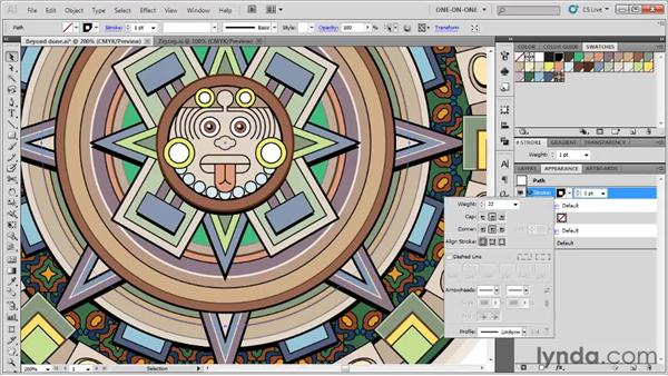Aligning dashes to endpoints and corners: Illustrator CS5 One-on-One: Fundamentals